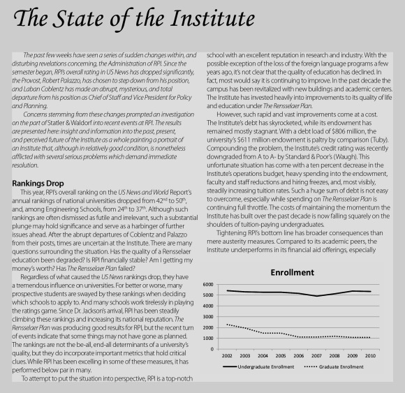 State of the Institute S&W Article